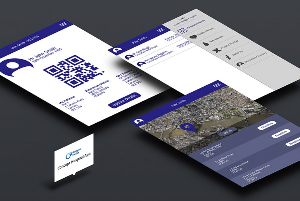 Concept Hospital App and User Interface Design