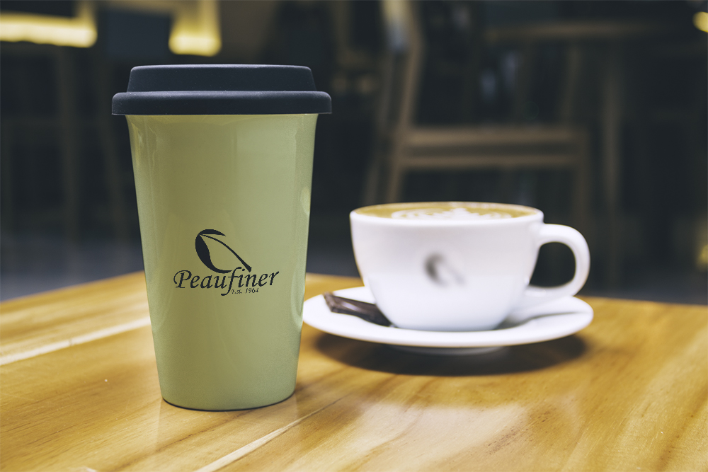 Peufiner Tea and Coffee Logo Mug Mockup