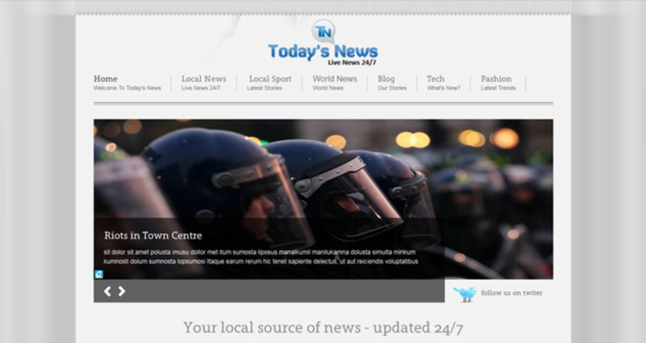 Today's News CMS Website