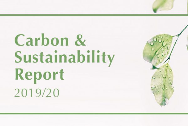 Carbon and Sustainability Report 2019/20