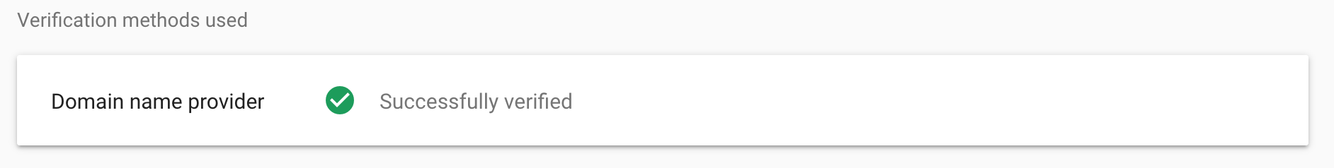 Verified Search Console