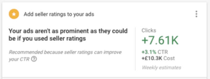 Google Recommended Improvements